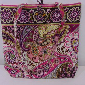 Vera Bradley Toggle Tote Shoulder Bag Flowers